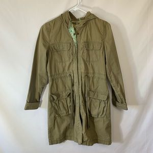Old navy green trench coat